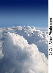 kék ég, elhomályosul, struktúra, repülőgép, repülőgép, fehér, kilátás
