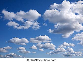 kék ég, háttér, elhomályosul, apró