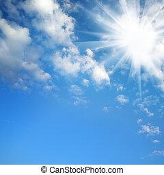 kék ég, nap