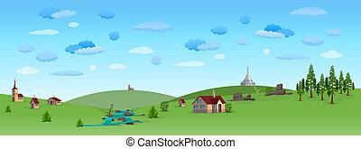 kék ég, táj, természet