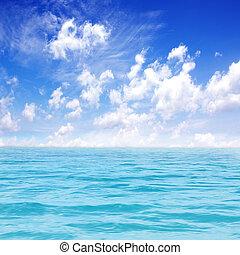 kék ég, tenger, gyönyörű
