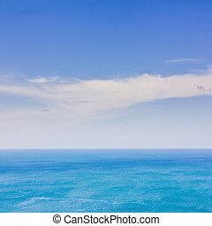 kék ég, tenger, háttér