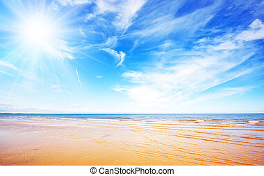 kék ég, tengerpart