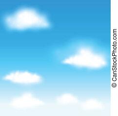 kék ég, vektor, elhomályosul, háttér
