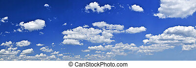 kék ég, white felhő, körképszerű