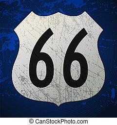 kék, útvonal 66, aláír