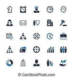 kék, ügy icons, sorozat, -, 4), (set