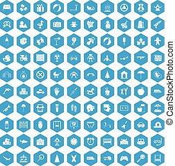 kék, 100, állhatatos, gyermekkor, ikonok