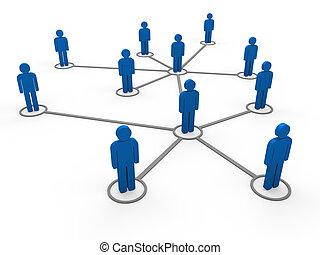 kék, 3, hálózat, befog