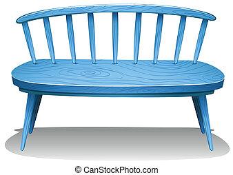 kék, bírói szék, fából való