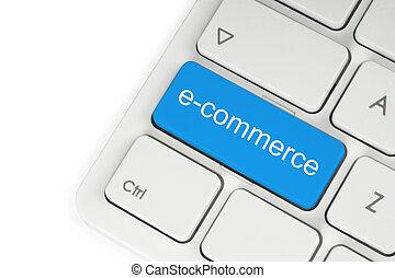 kék, billentyűzet, gombol, e-commerce