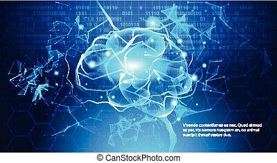 kék, binary kód, elektromos, fogalom, agyonüt, áramkör, háttér, digital technology
