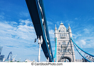 kék, bridzs, ég, alatt, bástya, london.