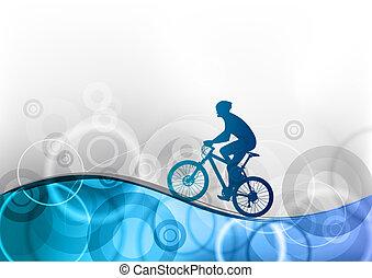 kék, bringás