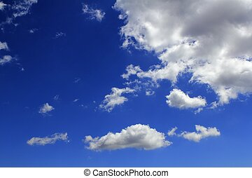 kék, cloudscape, elhomályosul, gradiens, ég, háttér
