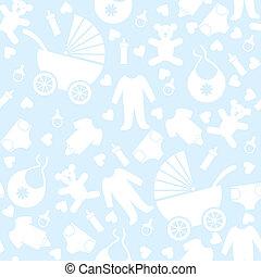 kék, csecsemő, seamless, háttér