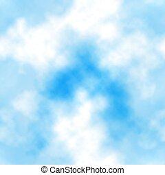 kék, cserép, elhomályosul, seamless, ég