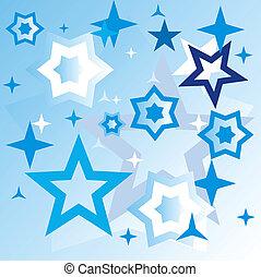 kék, csillaggal díszít, háttér