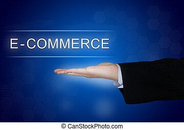 kék, e-commerce, gombol, háttér