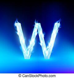 kék, elbocsát, vektor, levél