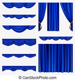 kék, elfüggönyöz