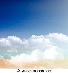 kék, elhomályosul, ég, gyakorlatias, háttér, 0609