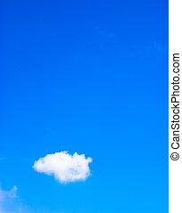 kék, elhomályosul, ég