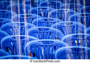 kék, elnökké választ, üres, műanyag