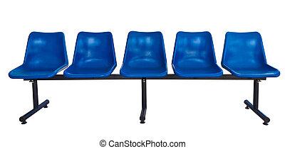 kék, elnökké választ, fehér, elszigetelt, műanyag