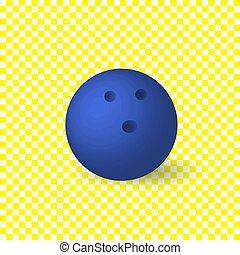 kék, elszigetelt, object., vektor, háttér, tekézés, white labda