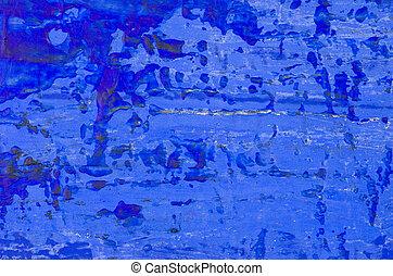 kék, elvont, akril, háttér