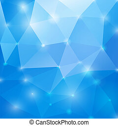 kék, elvont, eps10., polygonal, háttér., vektor