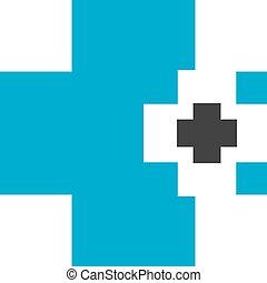 kék, elvont, gyógyszertár, orvosi cégtábla
