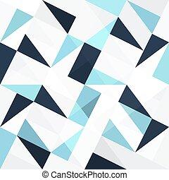 kék, elvont, háromszögek, seamless, háttér