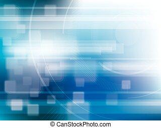 kék, elvont, lights., fényes, háttér, technológia, futuristic