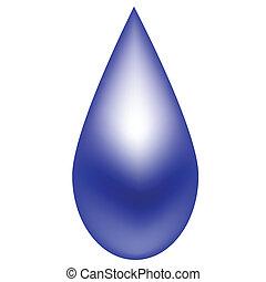 kék, esőcsepp