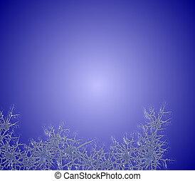 kék, fagy