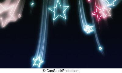 kék, fehér, repülés, csillaggal díszít, piros