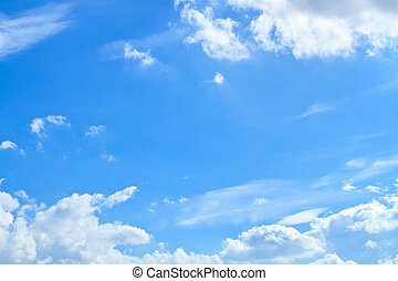 kék, felhő, ég, fehér