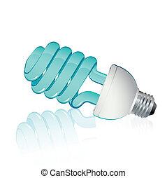 kék, fluorescent láng