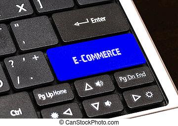 kék, fogalom, ügy, gombol, karcsú, -, e-commerce