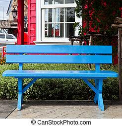 kék, garden., pázsit szék, eredet, fából való