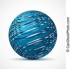 kék, gyakorlatias, elvont, árnyék, gömb