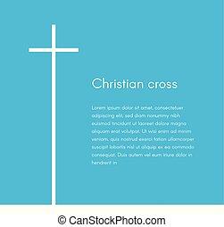 kék, háló, keresztény, háttér, poszter, kereszt, szöveg, jelkép., vallás, vektor, tervezés, ábra, sablon, broschure, fehér, silhouette., transzparens