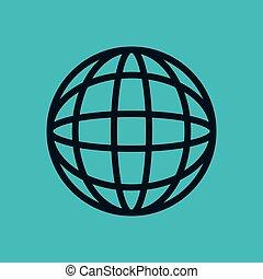 kék, hálózat, földgolyó, ég, összekapcsolt, háttér, társadalmi, világ, ikon