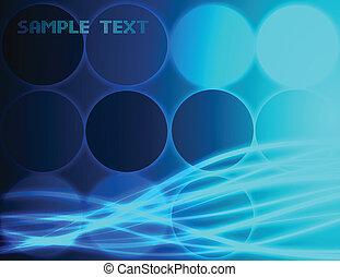 kék, háttér., elvont, vektor