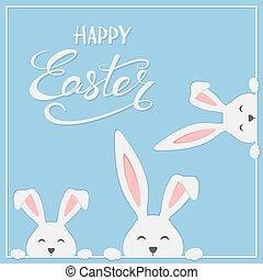 kék, húsvét, gyáva emberek, háttér