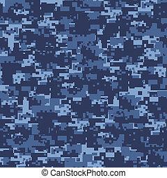 kék, hadi, pattern., seamless, álcáz