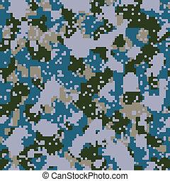kék, haditengerészet, vektor, camo, digitális