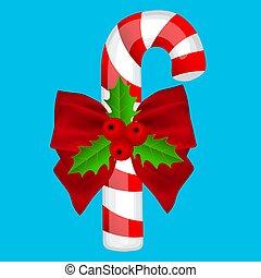 kék, hagyományos, háttér, cukorka, karácsony